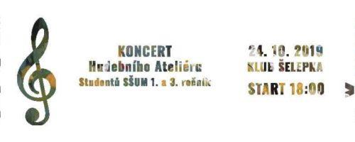 Koncert hudebního ateliéru 24. 10. 2019