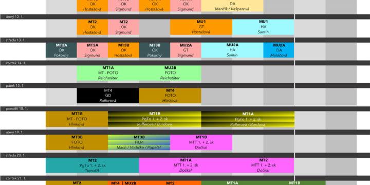 Harmonogram školních klauzur LEDEN 2021